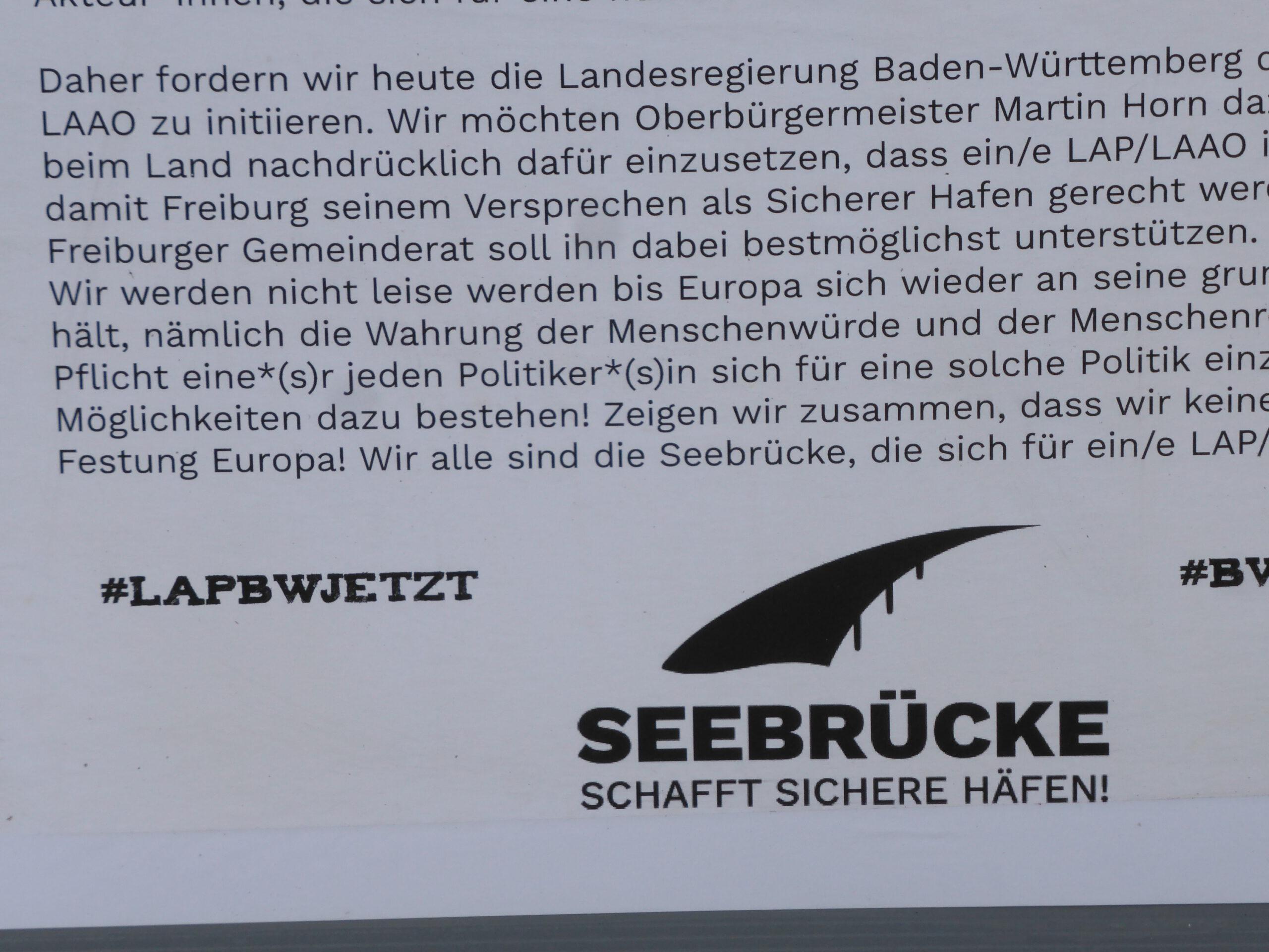 """Freiburg und die """"Flüchtlinge"""""""